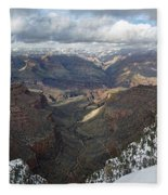 Winter Storm At The Grand Canyon Fleece Blanket