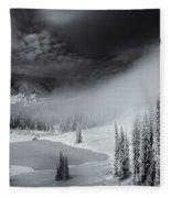 Winter Storm Clears Fleece Blanket