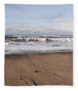 Winter Storm In New Hampshire Art Print Fleece Blanket