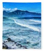 Winter Storm Surf At Ho'okipa Maui Fleece Blanket
