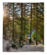 Winter Sun Flares Fleece Blanket