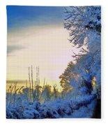 Winter Sunburst Fleece Blanket
