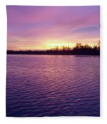 Winter Sunrise Fleece Blanket