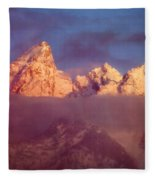 1m9333-winter Sunrise On Teton Range Fleece Blanket