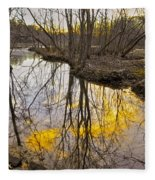 Winter Sunset At Williston Mill Fleece Blanket