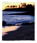 Winter Sunset In Laguna Beach II Fleece Blanket