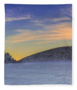 Winter Sunset Over Eagle Lakes Fleece Blanket