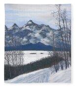 Winter Tetons Fleece Blanket