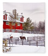 Winter Thoroughbreds Fleece Blanket