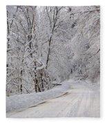 Winter Travel Fleece Blanket