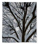 Winter Tree 1 Fleece Blanket