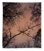 Winter Tree Canopy Fleece Blanket