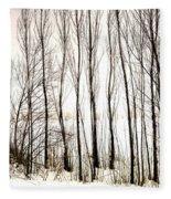 Winter Tree Fence 13283 Fleece Blanket