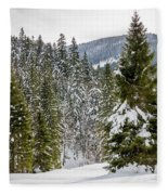 Winter Tree Fleece Blanket