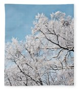 Winter Tree Scene Fleece Blanket