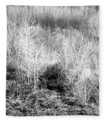 Winter Trees B And W 3 Fleece Blanket