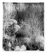 Winter Trees B And W 6 Fleece Blanket