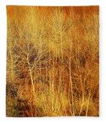 Winter Trees Color 4 Fleece Blanket
