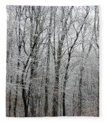 Winter Trees Fleece Blanket