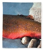 Winter Trout Fleece Blanket