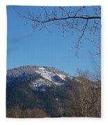 Winter Vista From Grants Pass Fleece Blanket