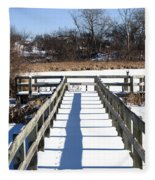 Winter Walkway Fleece Blanket
