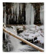 Winter Waterfall Fleece Blanket