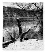 Winter Waterscape Fleece Blanket