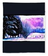 Winter Whimsey  Fleece Blanket