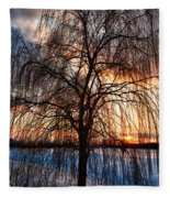 Winter Willow Fleece Blanket