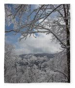 Winter Window Wonder Fleece Blanket