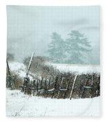 Winter Wonderland - Amazing Winter Landscape With Snow Falling Fleece Blanket