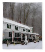 Winter Wonderland At The Valley Green Inn Fleece Blanket