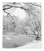 Winter Wonderland In Black And White Fleece Blanket