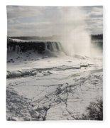 Winter Wonderland - Spectacular Niagara Falls Ice Buildup  Fleece Blanket