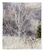 Winter Woodland With Subdued Colors Fleece Blanket
