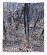 Winter Woods In Missouri 1 Fleece Blanket