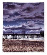 Winters Beach Solitude Fleece Blanket