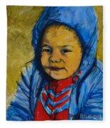 Winter's Child Fleece Blanket
