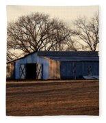 Winter's Cow Barn Fleece Blanket