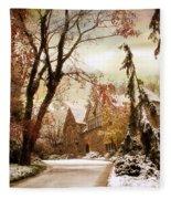 Winter's Entrance Fleece Blanket