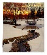 Winters Exit Fleece Blanket