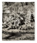 Winter's Sepia Grip Fleece Blanket
