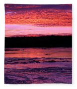 Winter's Sunset Fleece Blanket