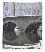 Wintertime At Bells Mill Road Fleece Blanket
