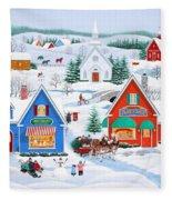 Wintertime In Sugarcreek Fleece Blanket