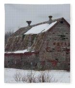 Wisconsin Barn Fleece Blanket