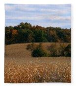 Wisconsin Fields In Late Summer Fleece Blanket