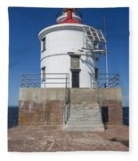Wisconsin Point Lighthouse 6 F Fleece Blanket