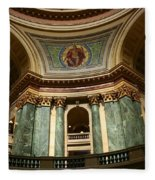 Wisconsin State Capital Building 1  Fleece Blanket